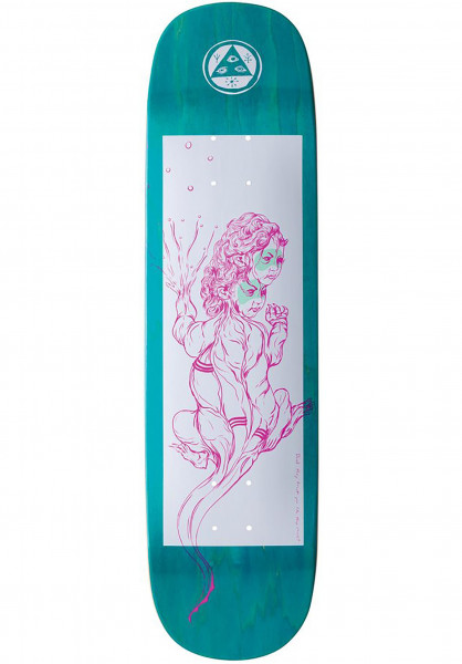 Welcome Skateboard Decks Komodo Queen Amulet white-natural Vorderansicht