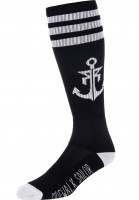 Rebel-Rockers-Socken-Anchor-black-white-Vorderansicht