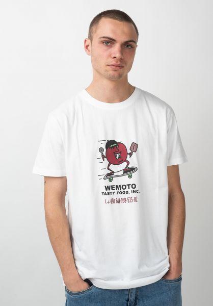 Wemoto T-Shirts Tasty white vorderansicht 0320329