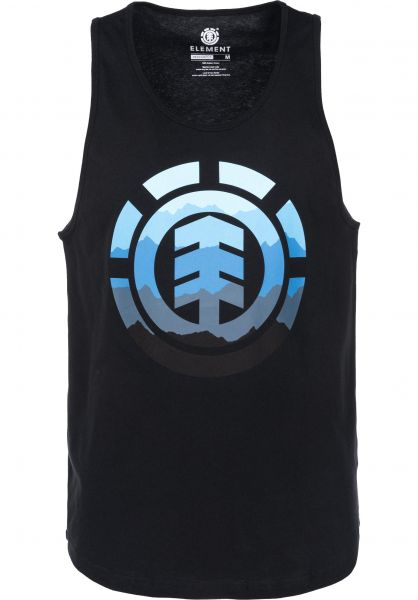 Element Tank-Tops Hues flintblack Vorderansicht