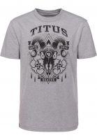 TITUS T-Shirts Goat greymottled Vorderansicht