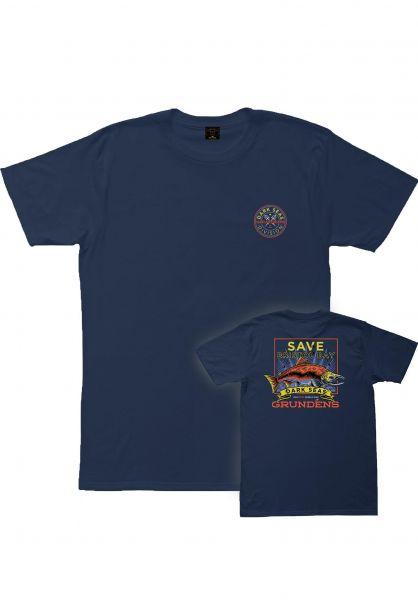 Dark Seas T-Shirts x Grundens Save Bristol Bay navy vorderansicht 0399026