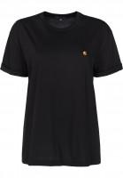 Carhartt-WIP-T-Shirts-W-S-S-Chase-black-gold-Vorderansicht