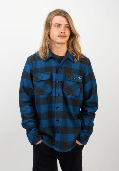 Dickies Hemden langarm Sacramento blue vorderansicht 0411126