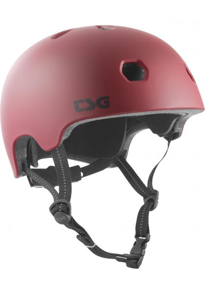 TSG Helme Meta Solid Color satin oxblood vorderansicht 0750123
