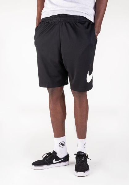 Nike SB Sweatshorts Dry HBR Sunday black-white vorderansicht 0268031