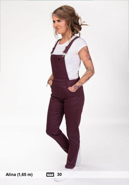 Plenty Humanwear Jeans Weekender Overalls deep-plum vorderansicht 0269037