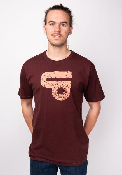 TITUS T-Shirts Splitter deepburgundy vorderansicht 0398358