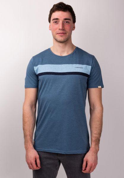 Ragwear T-Shirts Hake Organic denimblue vorderansicht 0399923