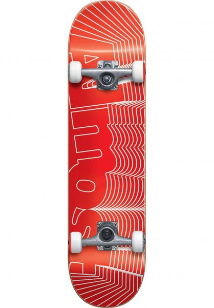 Almost Skateboard komplett Unknown Pleasures red vorderansicht 0161719