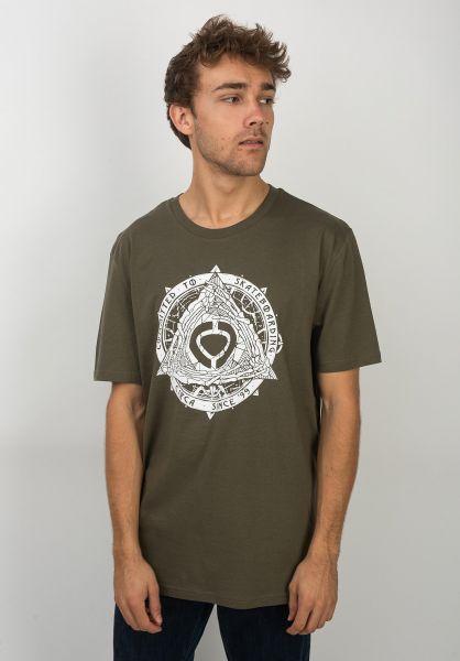C1RCA T-Shirts Pyramid militarygreen vorderansicht 0399767