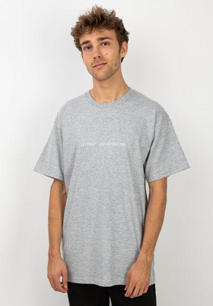 Sour Skateboards T-Shirts Sour Script heathergrey vorderansicht 0320097