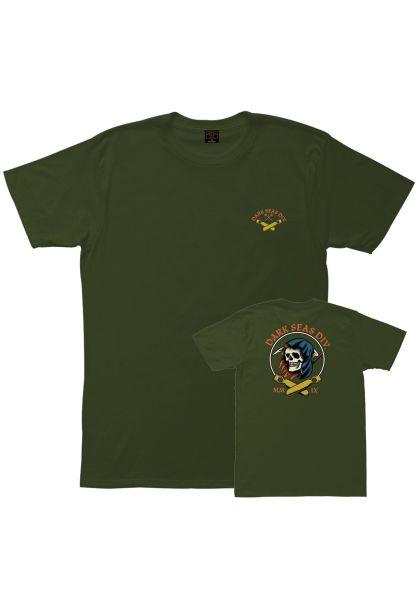 Dark Seas T-Shirts Justice Pigment Dyed hemp vorderansicht 0383287