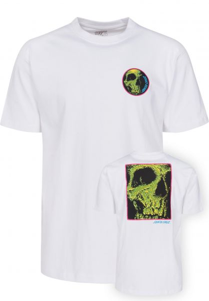 Santa-Cruz T-Shirts Street Creep white Vorderansicht