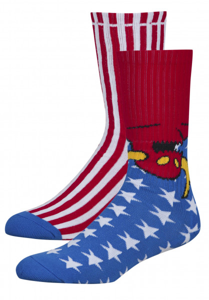 Toy-Machine Socken American Monster blue Vorderansicht