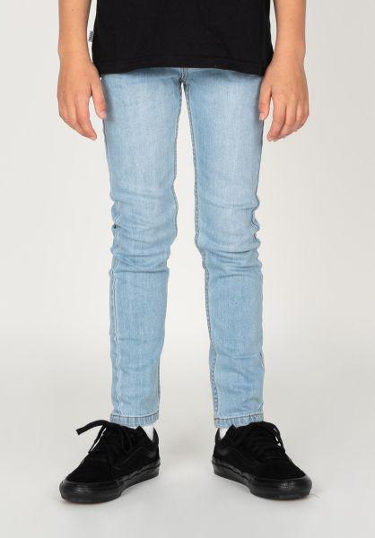 TITUS Hosen und Jeans Tube Fit Kids blue-bleached vorderansicht 0540901