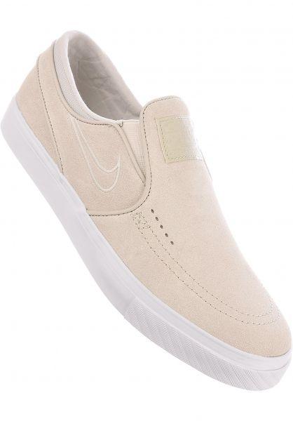 Nike SB Alle Schuhe Zoom Stefan Janoski Slip On white-lightbone  Vorderansicht 7e30b67a5