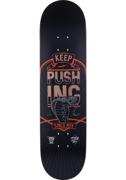 TITUS Skateboard Decks Keep Pushing T-Fiber Light black-orange Vorderansicht