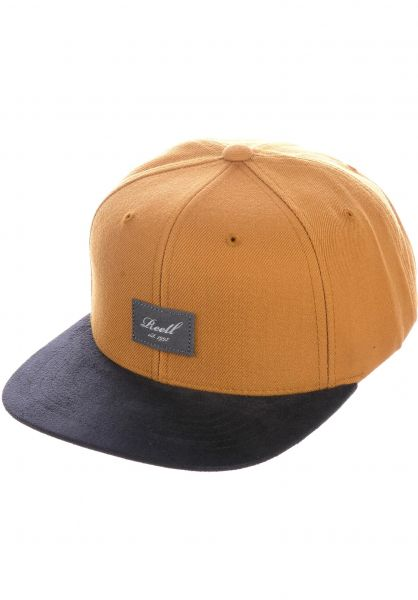 Reell Caps Suede 6-Panel yellowbrown vorderansicht 0564484