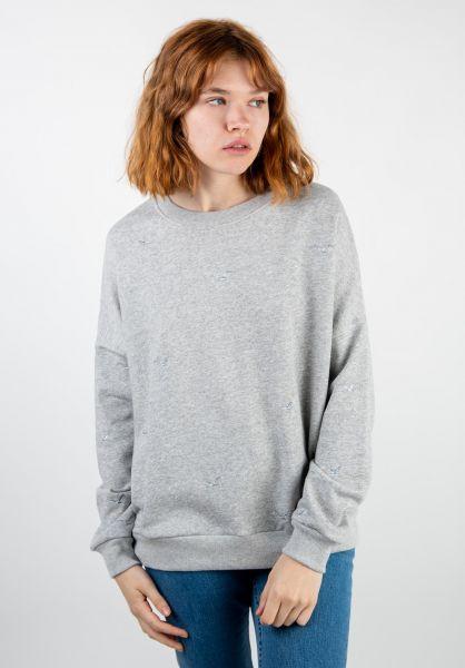 Cleptomanicx Sweatshirts und Pullover Gull Allover heathergrey vorderansicht 0422711