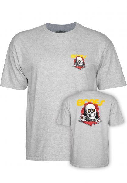 Powell-Peralta T-Shirts Ripper athletic-heather vorderansicht 0363344