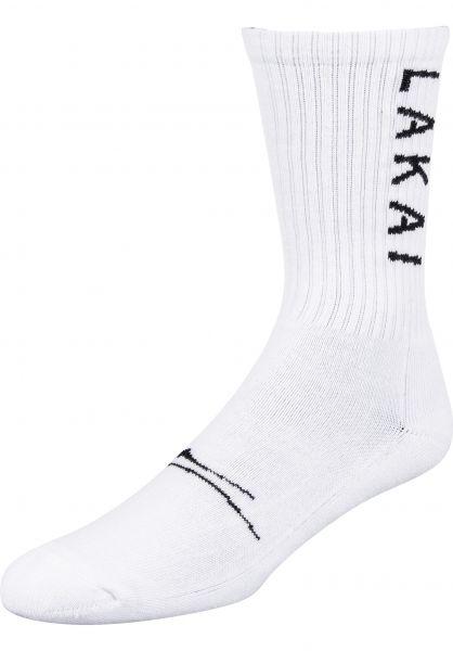Lakai Socken Simple Crew Sock white vorderansicht 0631778