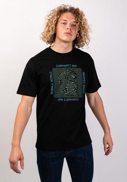 Carhartt WIP T-Shirts Grid C black vorderansicht 0320065