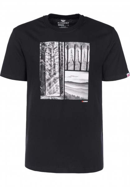 Element T-Shirts Redwood flintblack Vorderansicht