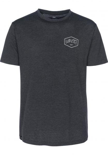 TITUS T-Shirts Hexagon darkgreymottled Vorderansicht