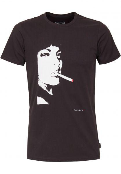 Forvert T-Shirts Easy-Leasing black-black vorderansicht 0366955