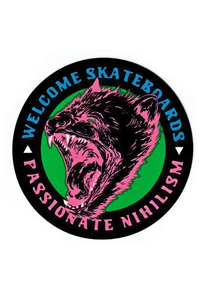 """Welcome Verschiedenes Passionate 3"""" Sticker black-pink-blue vorderansicht 0972219"""
