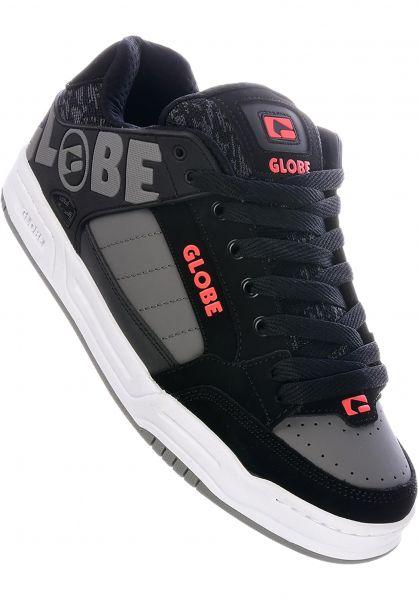 Globe Alle Schuhe Tilt black-red-grey vorderansicht 0601279