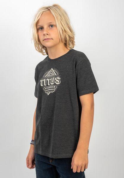 TITUS T-Shirts Bran Kids darkgreymottled vorderansicht 0399264