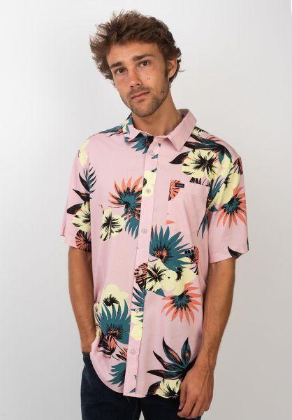 RVCA Hemden kurzarm Romeo Floral dustyblush vorderansicht 0400900