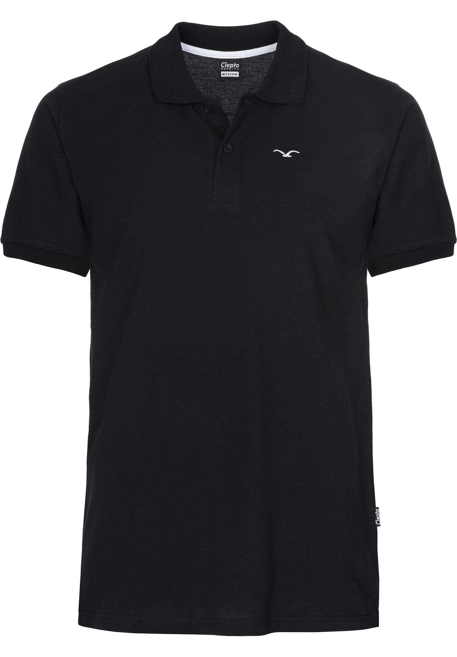 Polo Mowe Cleptomanicx Polo Shirts In Black Fur Herren Titus