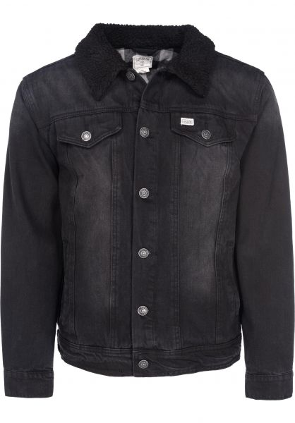 Captain Fin Winterjacken Brint II Denim black Vorderansicht