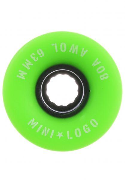 Mini-Logo Rollen A.W.O.L. A-Cut II 80A green vorderansicht 0134686