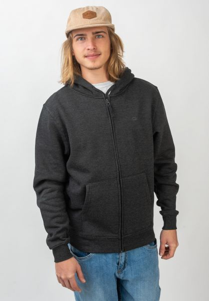 Rules Zip-Hoodies Lambda darkgreymottled vorderansicht 0452114