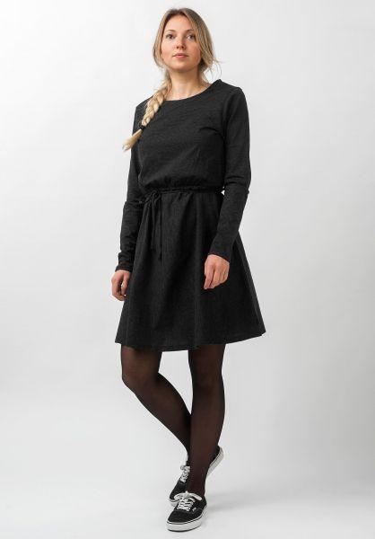 Forvert Kleider Tiffy black-greymelange vorderansicht 0801533