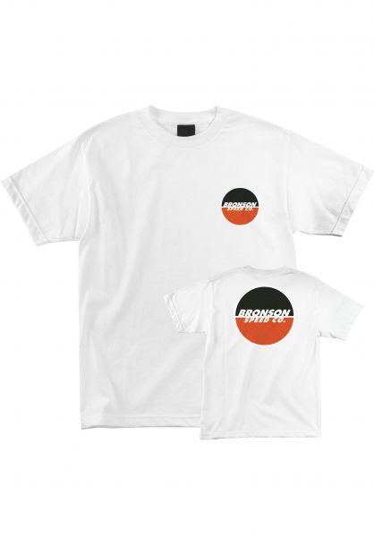 Bronson Speed Co. T-Shirts Logo white vorderansicht 0394184