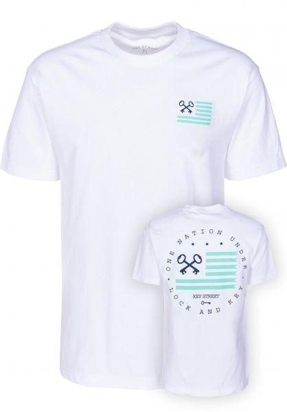 Key Street T-Shirts Flag white vorderansicht 0399530
