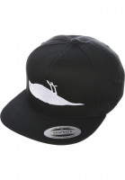 Atticus-Caps-Solid-Bird-black-Vorderansicht