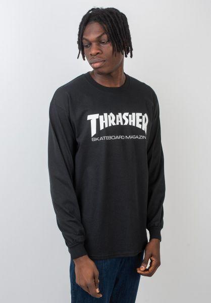 Thrasher Longsleeves Skate-Mag L/S black vorderansicht 0038356