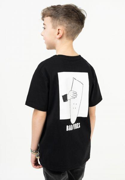TITUS T-Shirts Bad Vibes Kids black vorderansicht 0322725