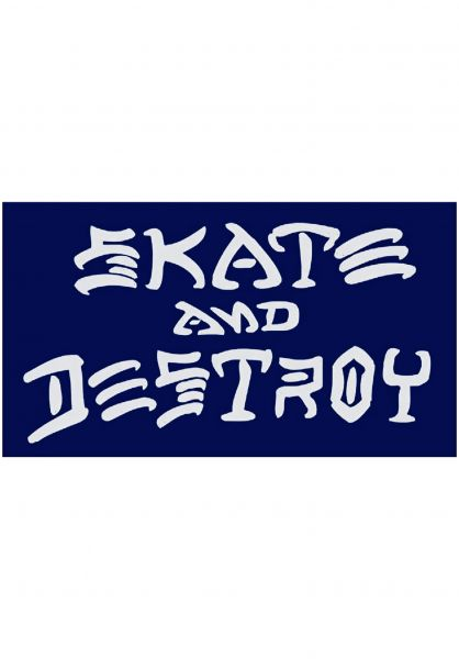 Thrasher Verschiedenes Skate and Destroy Small Sticker blue Vorderansicht