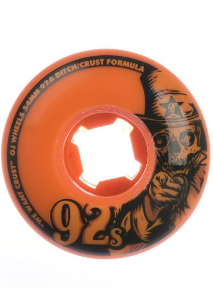OJ Wheels Rollen Ninety Twos 92A orange vorderansicht 0134285