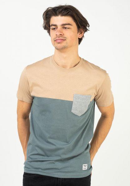 iriedaily T-Shirts Block Pocket steelgrey vorderansicht 0394022