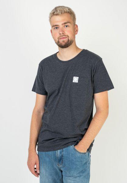 alife and kickin T-Shirts Logo Pocket marine 320 vorderansicht 0322162