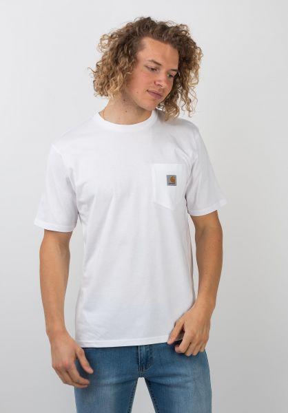 Carhartt WIP T-Shirts Pocket white vorderansicht 0393365