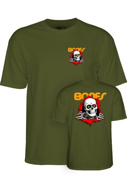 Powell-Peralta T-Shirts Ripper Kids military-green vorderansicht 0375562